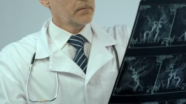 Doctor Examinando Radiografía Los Vasos Diagnosis Temprana Pensando ...