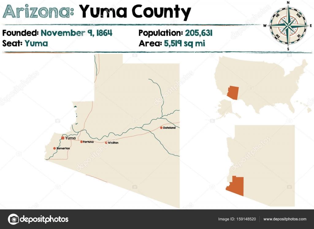 Arizona: Yuma county map — Stock Vector © Malachy666 #159148520 on los angeles map, baja california map, tucson metro area map, san antonio map, el paso map, avondale map, chandler map, blackfoot map, brownsville map, chicago map, flagstaff map, beckley map, cheyenne map, scottsdale map, del rio map, hopkinsville map, sedona map, tucson region map, las vegas map, cedartown map,