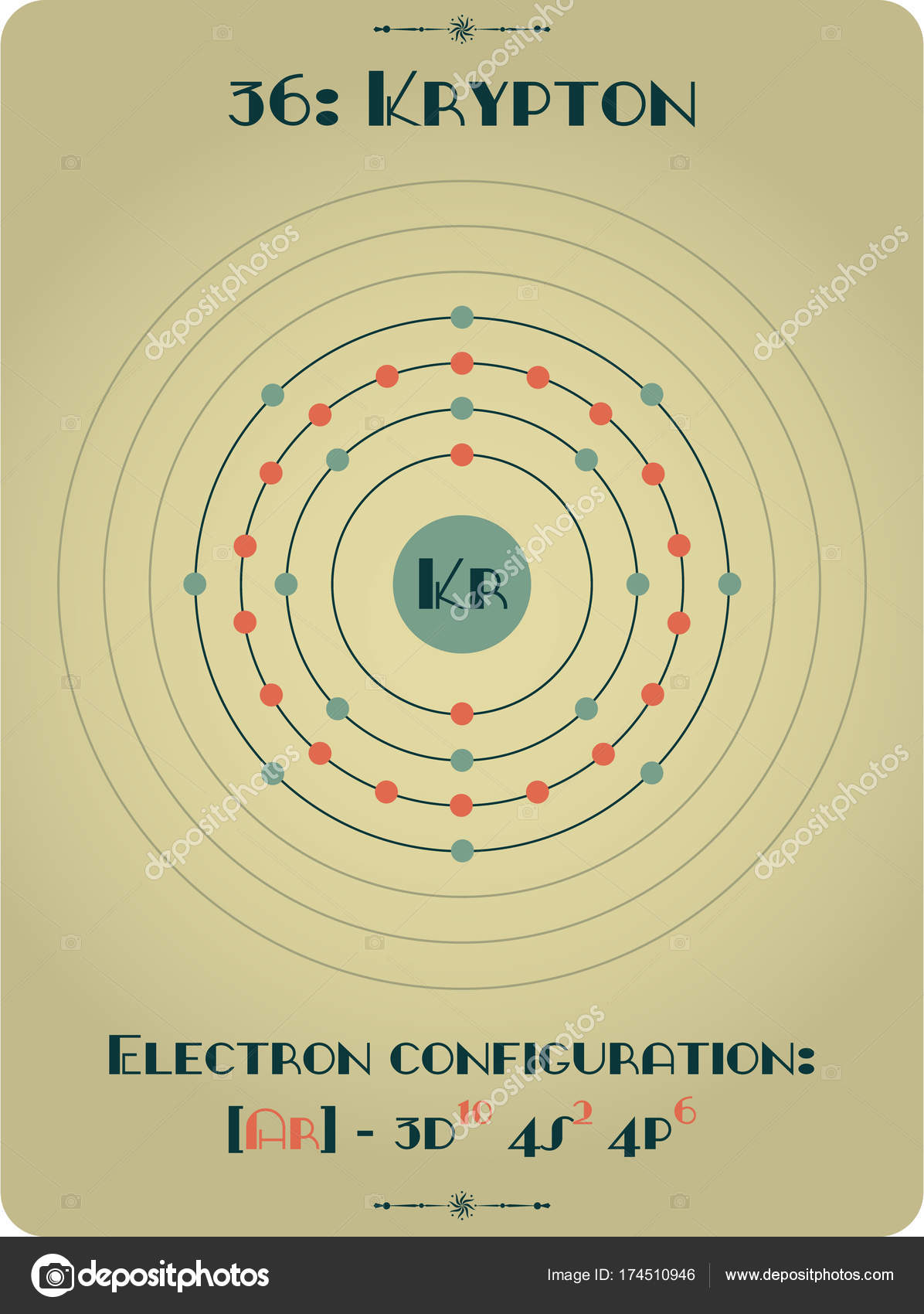 Element Of Krypton Stock Vector Malachy666 174510946