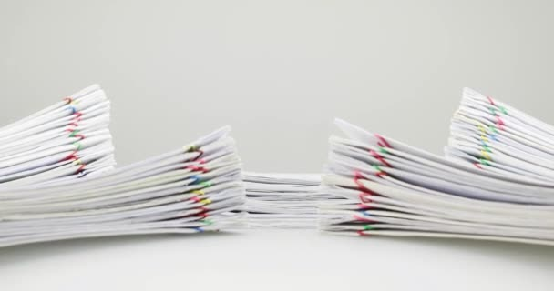Pile overload paperwork have blur pile document around time lapse