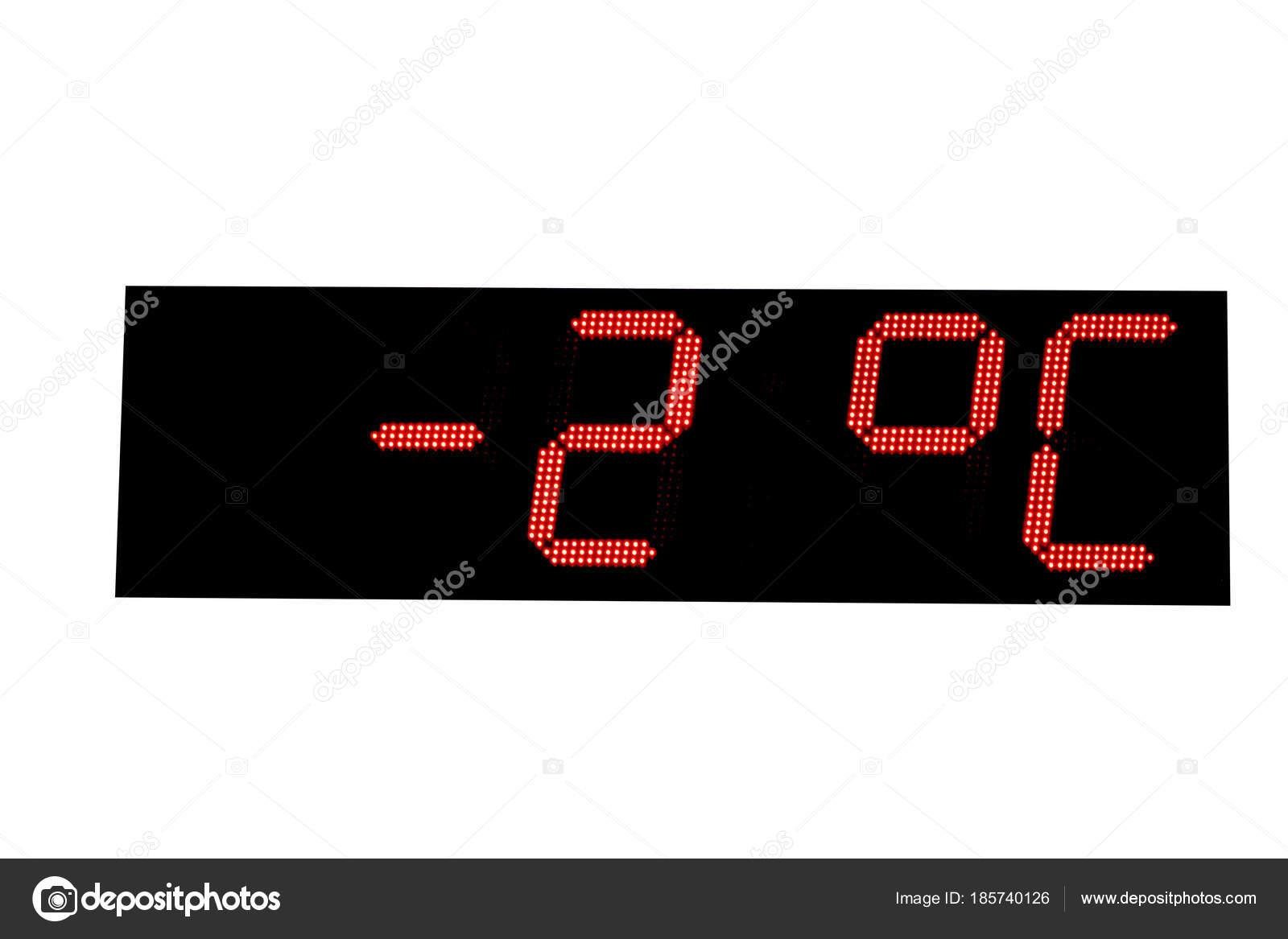Temperature indicators on city board  — Stock Photo