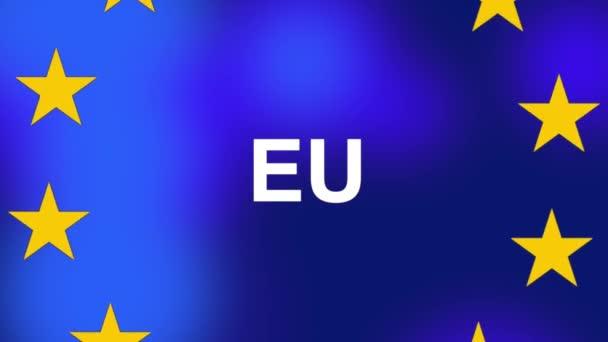 european union eu flag with stars on blue background