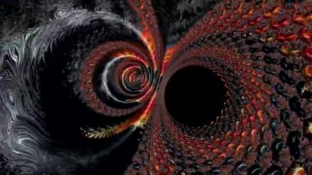 abstrakte, farbenfrohe Formen in Bewegung