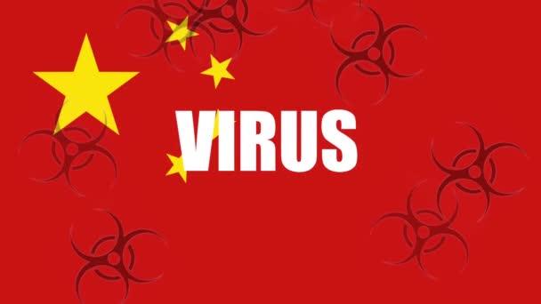 oronavirus alert background animation with colors of china flag