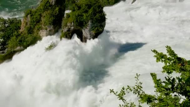 amazing view of famous Rhine Falls waterfall