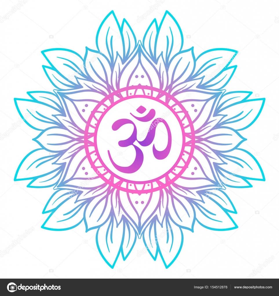 Diwali om symbol with mandala round pattern vintage style dec diwali om symbol with mandala round pattern vintage style dec stock vector buycottarizona