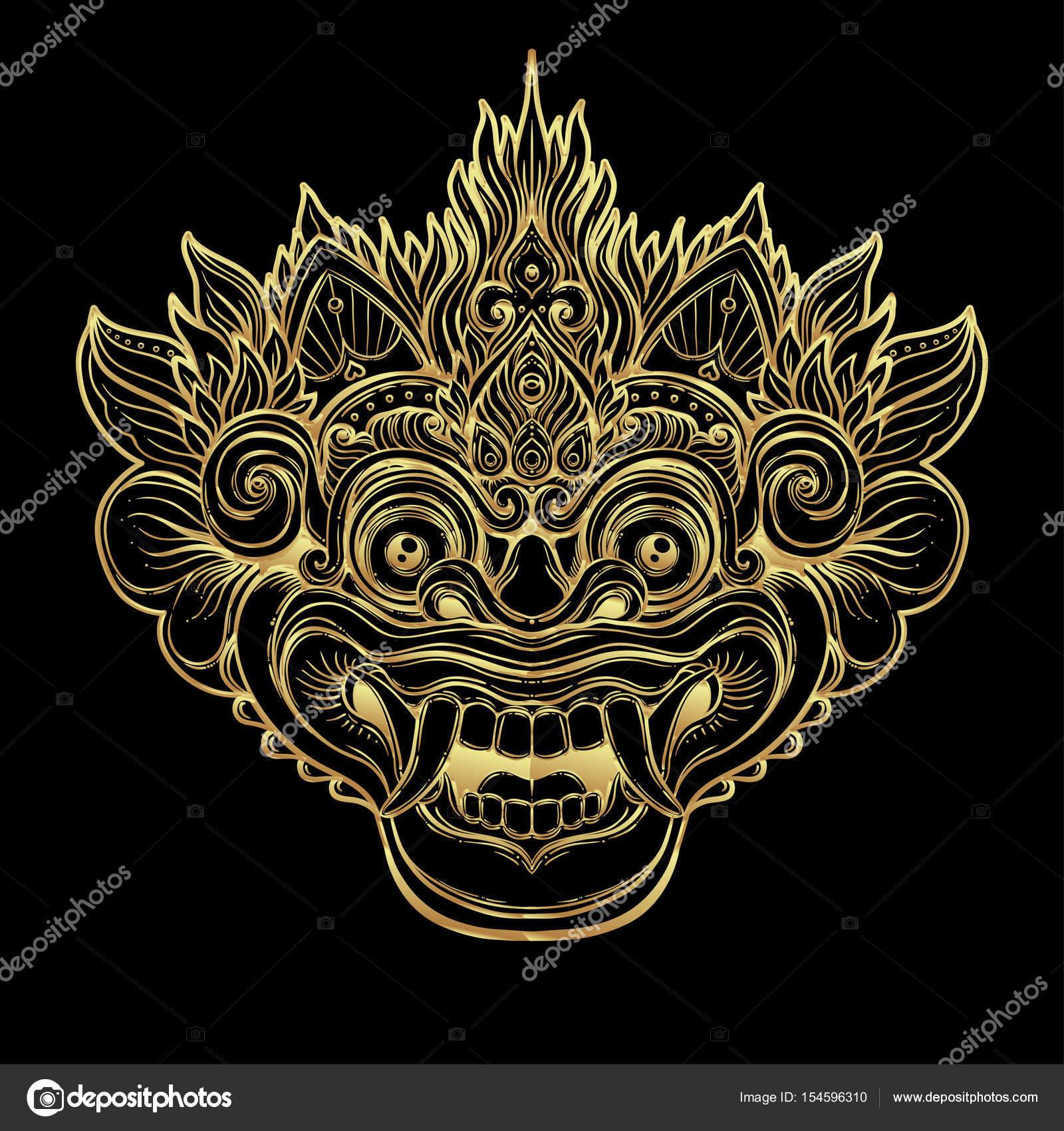 ᐈ barong bali mask stock vectors royalty free balinese mask illustrations download on depositphotos https depositphotos com 154596310 stock illustration barong traditional ritual balinese mask html