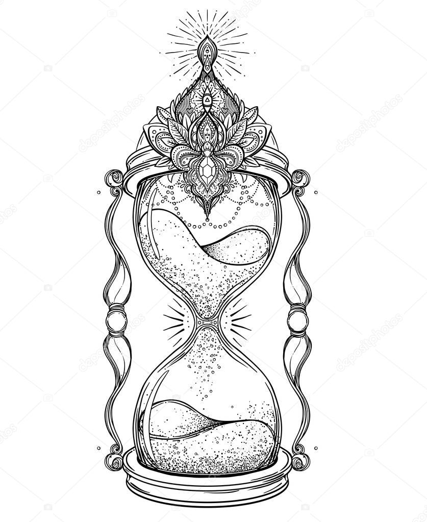 Im 225 Genes Reloj De Arena Con Rosas Reloj De Arena Con