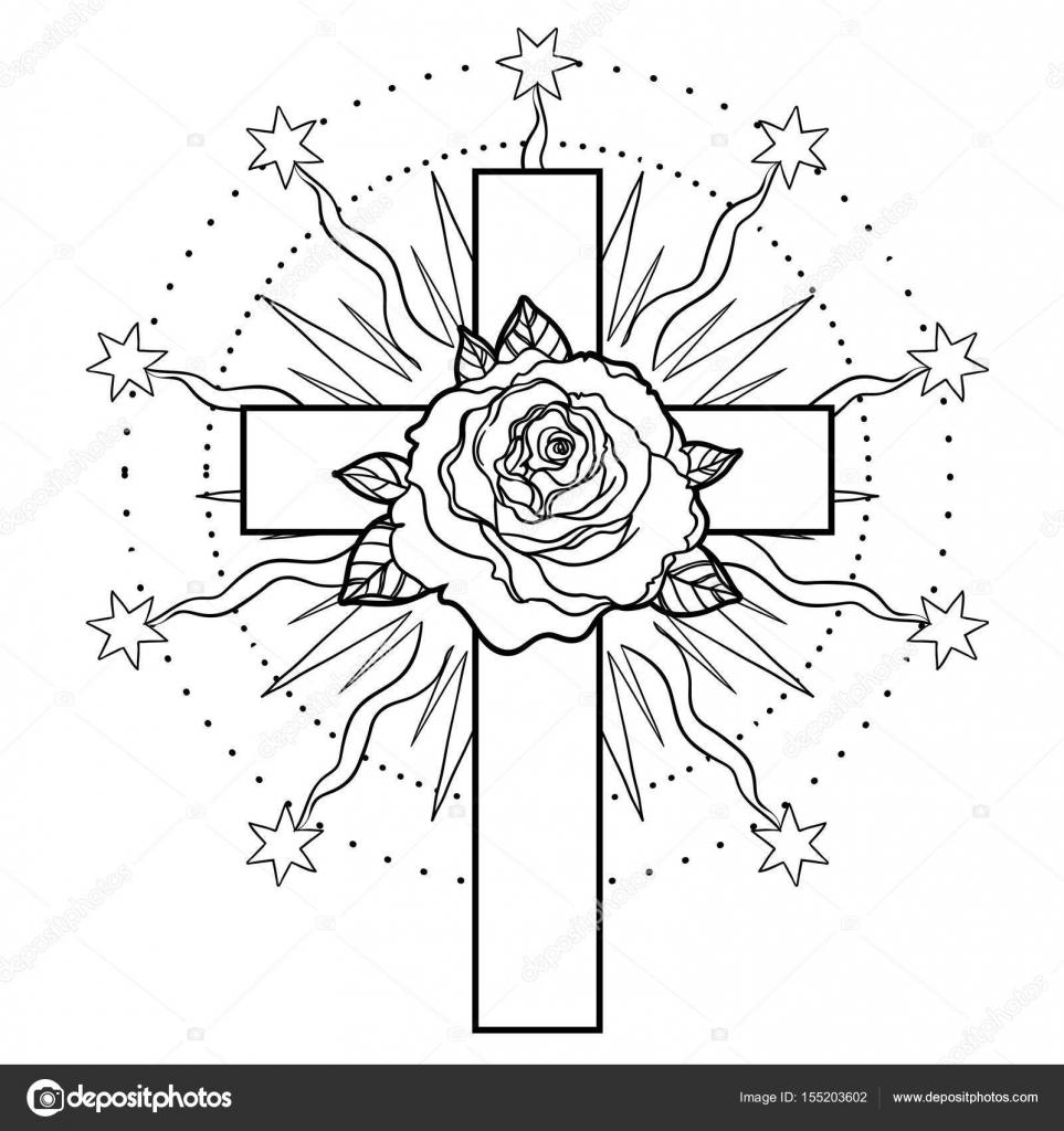 Rosencreuzarna symbol. Sakral geometri — Stock Vektor © vgorbash ...