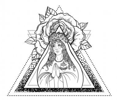 Lady of Sorrow. Devotion to the Immaculate Heart of Blessed Virg