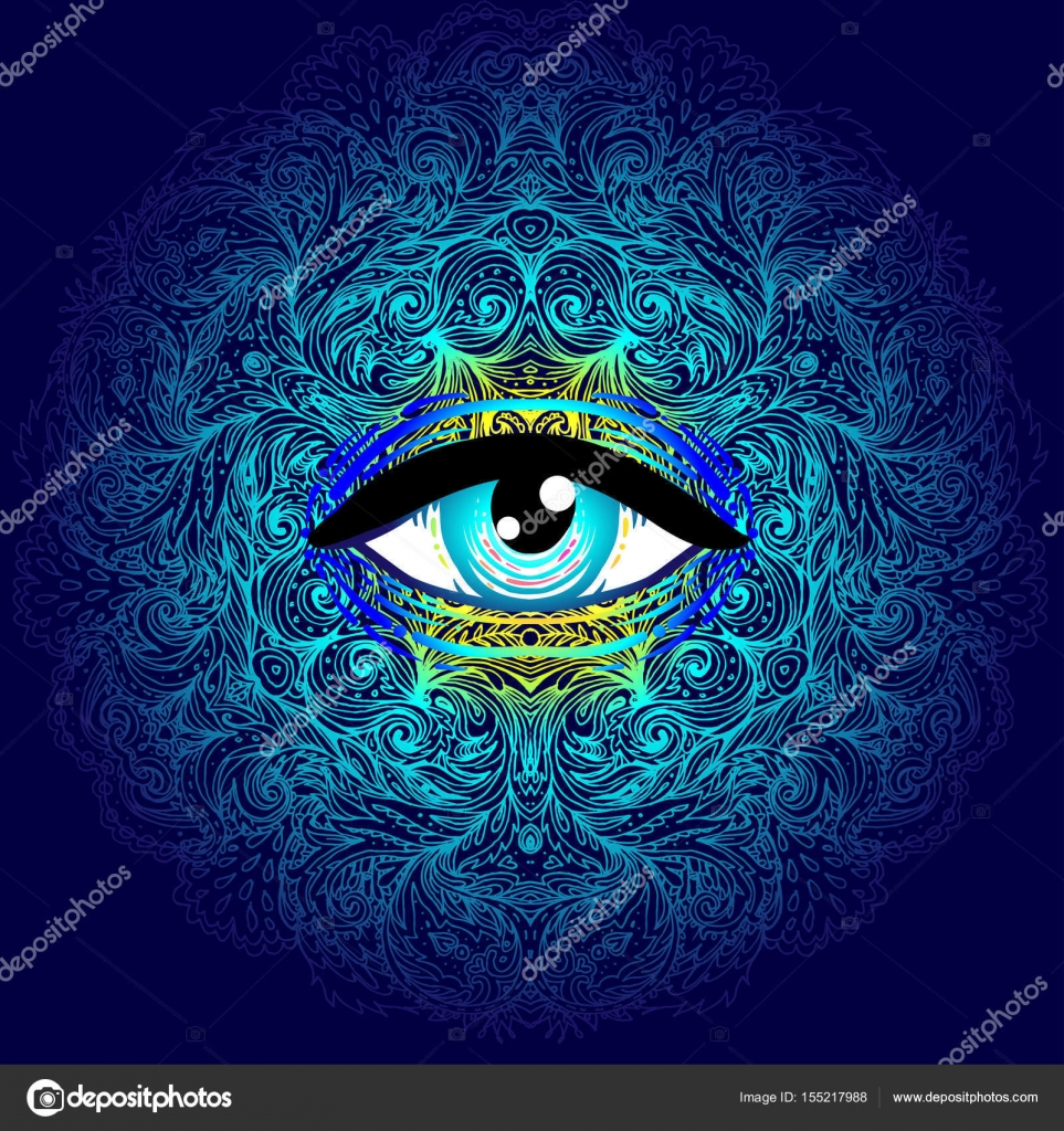 Sacred geometry symbol with all seeing eye in acid colors mysti sacred geometry symbol with all seeing eye in acid colors mysti stock vector buycottarizona