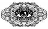 Fényképek Minden látó szem, a díszes mandala ihlette mintázat. Misztikus, alche
