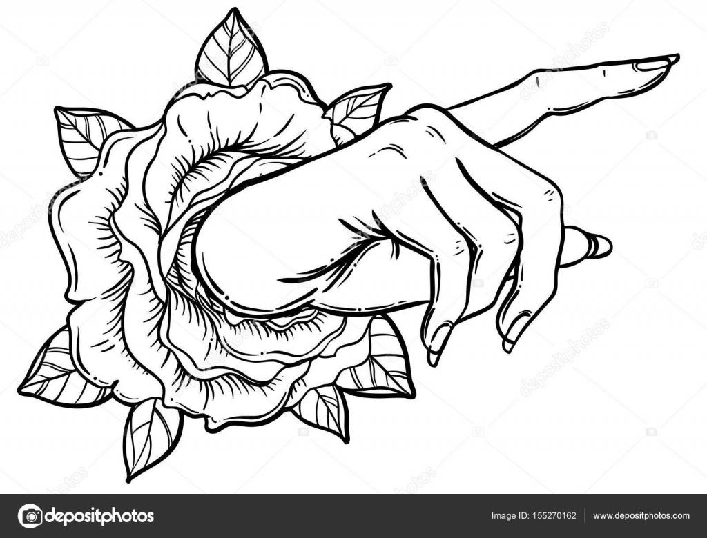 Mujer Mano Señalando Algo Con El Dedo índice. Mostrando