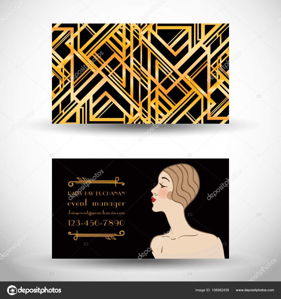 Art deco style business card — Stock Vector © vgorbash #168982438