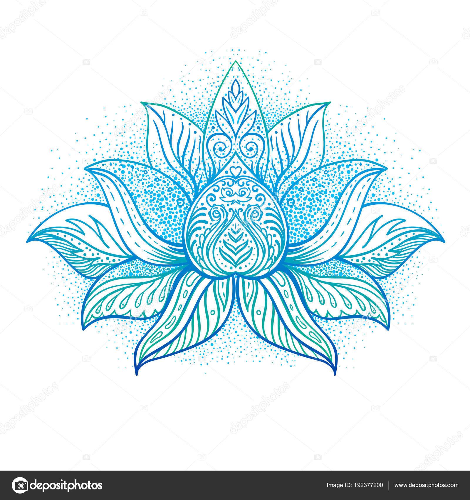 Decorative Ornamental Lotus Flower Symbol Stock Vector Vgorbash