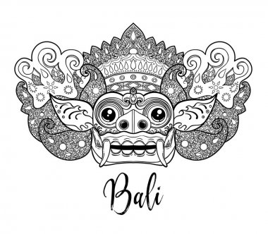 Traditional ritual Balinese mask of Barong