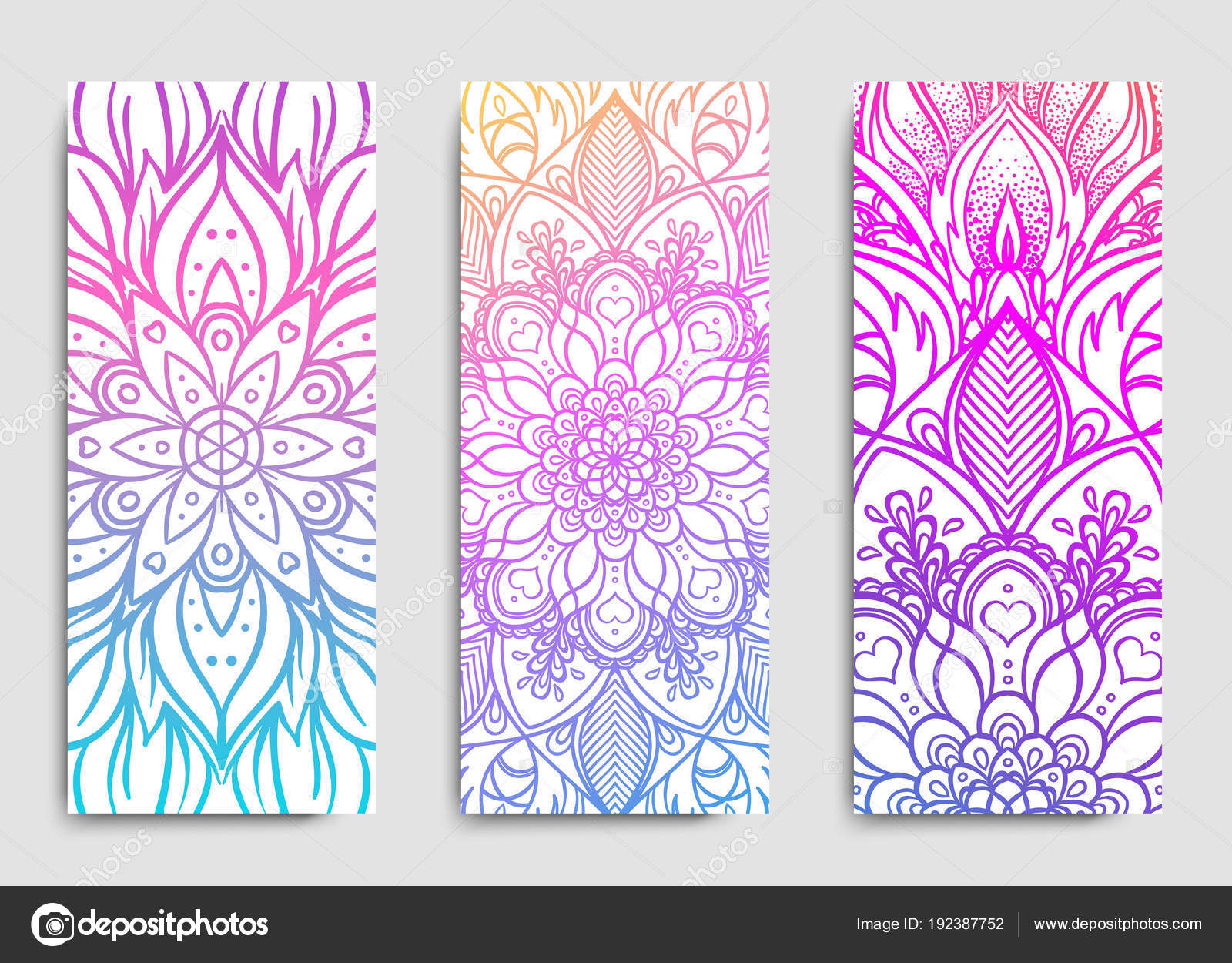 Colorful Templates Spiritual Retreat Yoga Studio — Stock Vector ...
