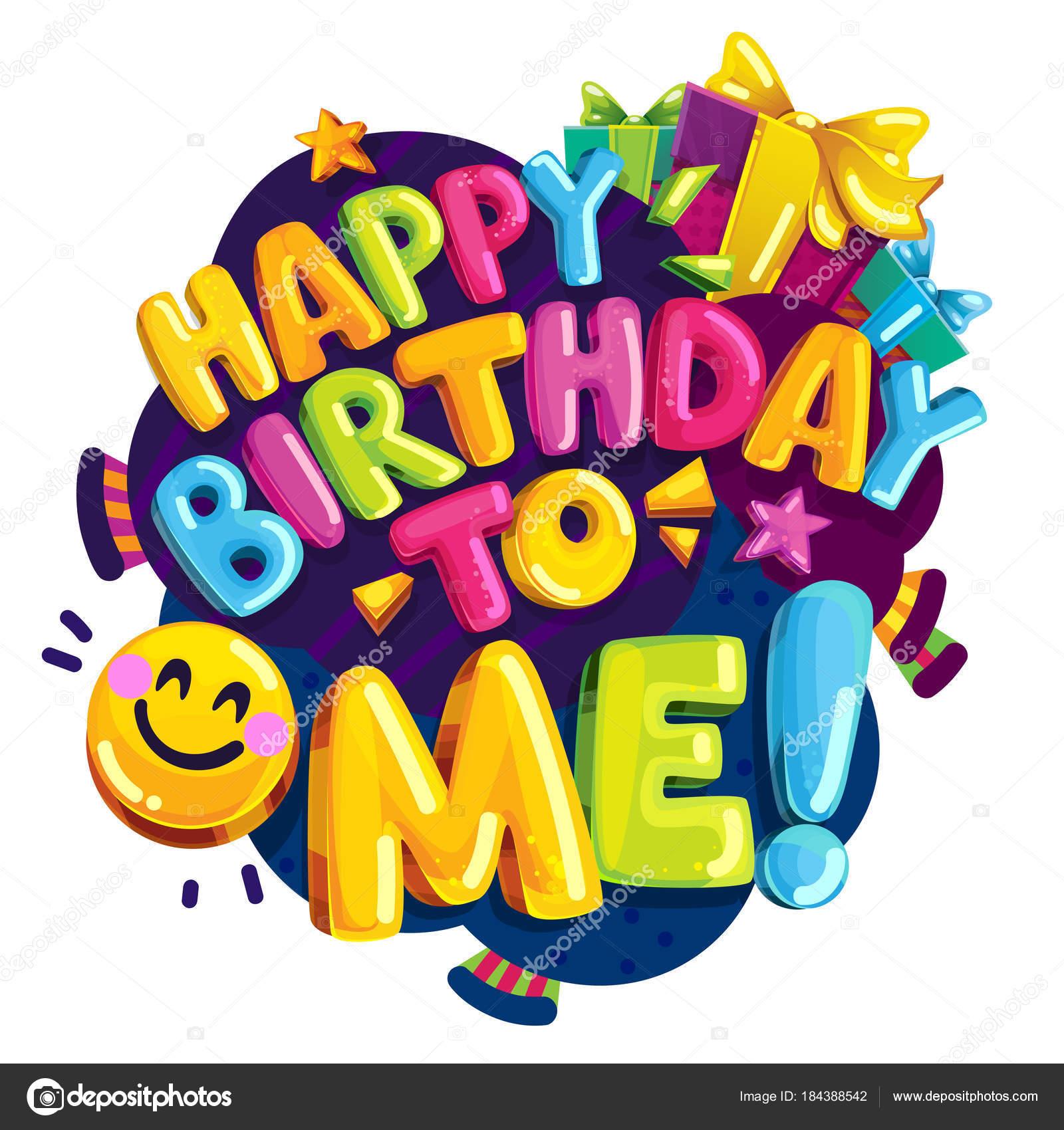 Feliz Cumpleaños Vector Ilustración Color Dibujos Animados Divertida ...