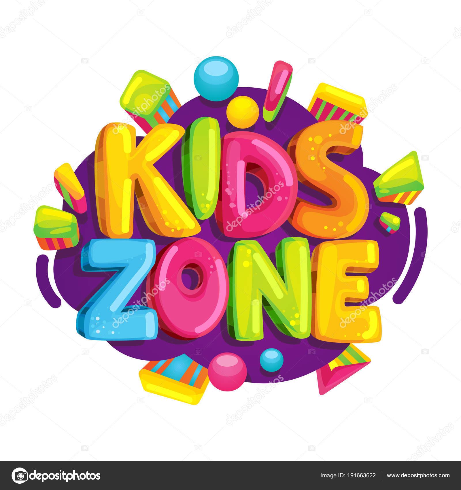 Ni Os Zona Dibujos Animados Logo Letras Burbujas Coloridas Para  -> Sala En Ingles Dibujo