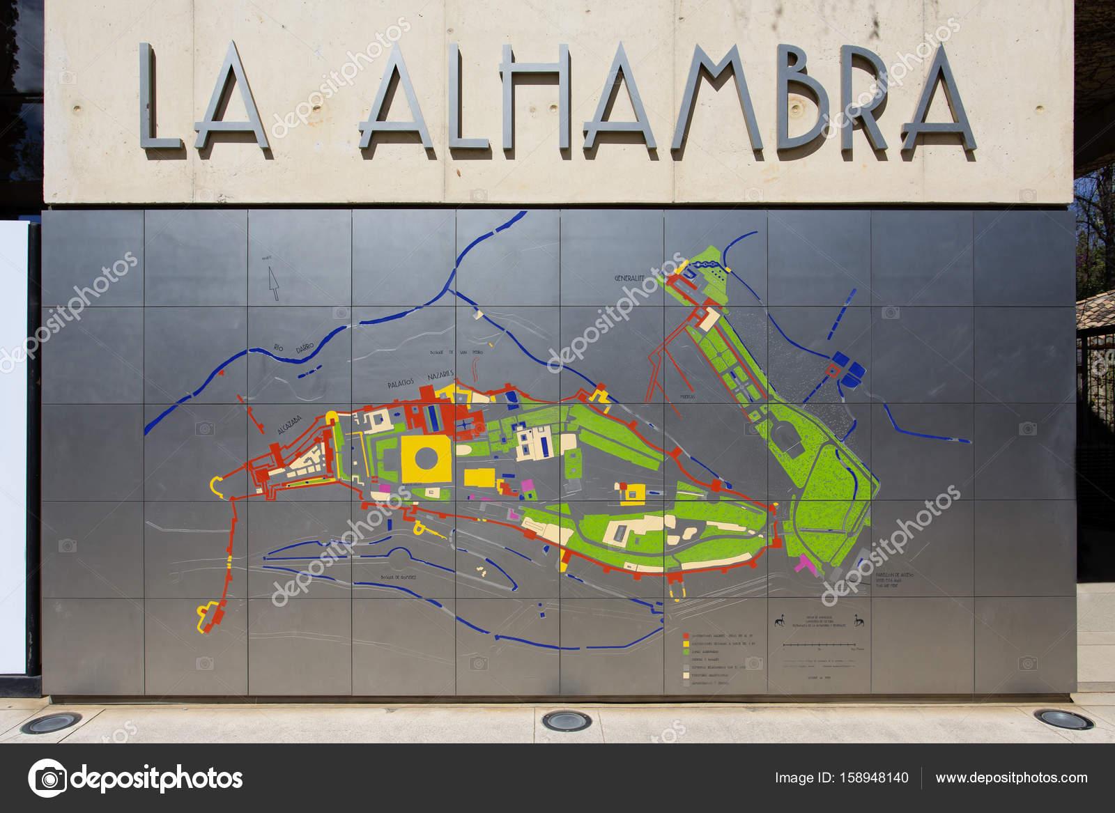 Karta Spanien Granada.Alhambra I Granada Andalusien Spanien Stockfotografi C Lachris77