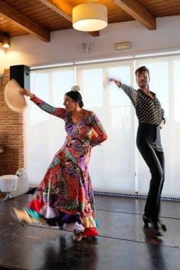 CALAHONDA, ANDALUCIA/SPAIN - JULY 3 : Flamenco Dancing at Calaho
