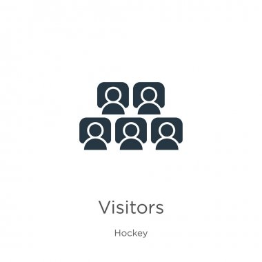 Visitors icon vector. Trendy flat visitors icon from hockey collection isolated on white background. Vector illustration can be used for web and mobile graphic design, logo, eps10