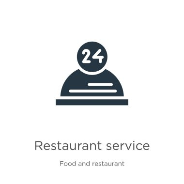 Restaurant service icon vector. Trendy flat restaurant service icon from food and restaurant collection isolated on white background. Vector illustration can be used for web and mobile graphic design,