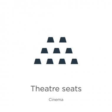 Theatre seats icon vector. Trendy flat theatre seats icon from cinema collection isolated on white background. Vector illustration can be used for web and mobile graphic design, logo, eps10