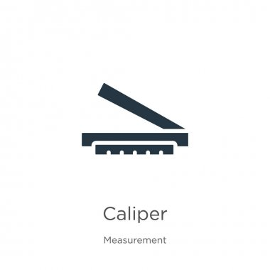 Caliper icon vector. Trendy flat caliper icon from measurement collection isolated on white background. Vector illustration can be used for web and mobile graphic design, logo, eps10