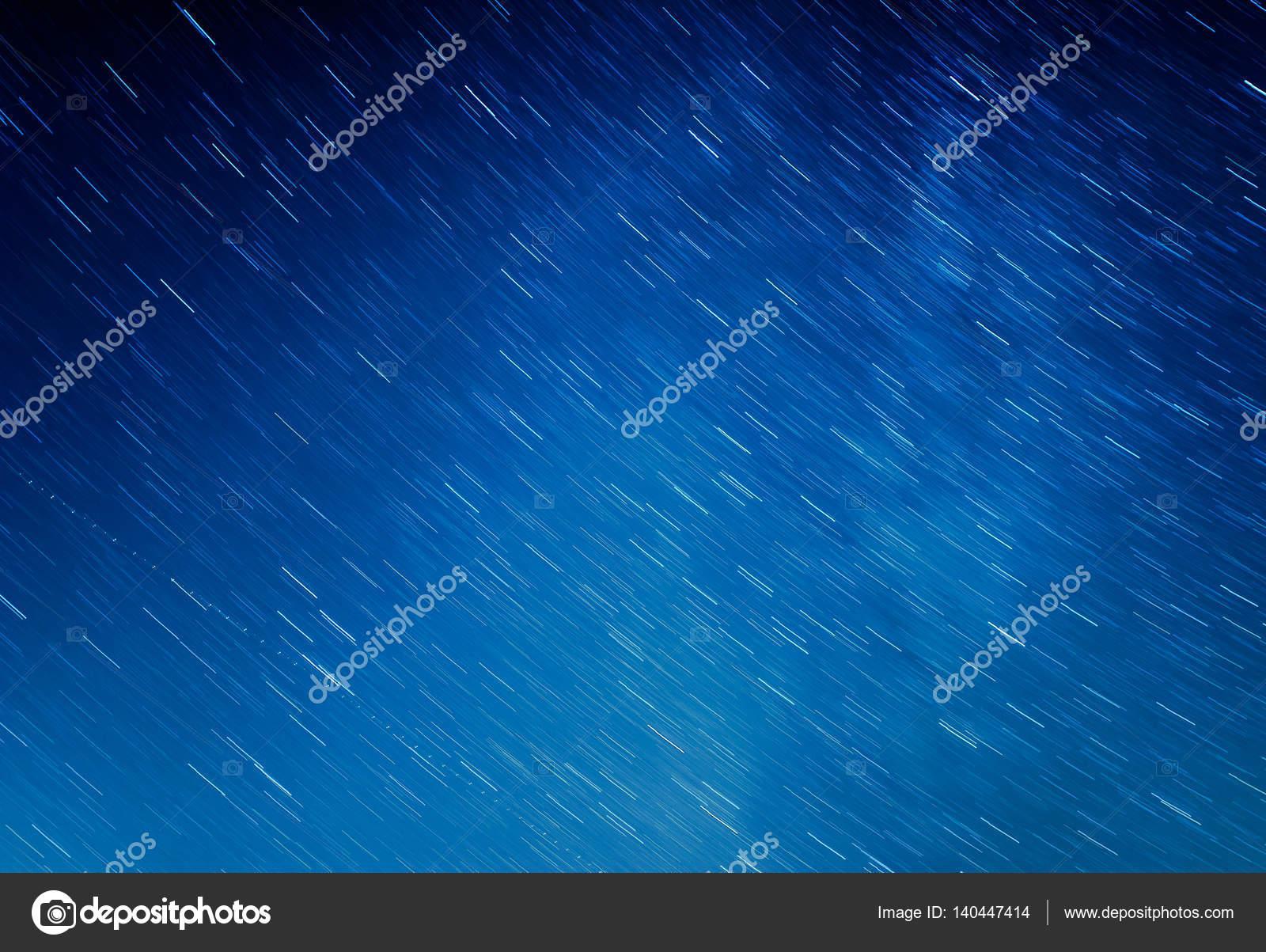 Beautiful Scenery Of Blue Night Sky With Stars Star Trails Photo By Tadeas