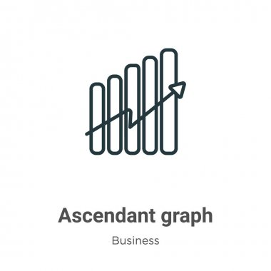Ascendant graph outline vector icon. Thin line black ascendant graph icon, flat vector simple element illustration from editable business concept isolated on white background