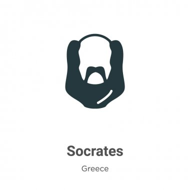 Socrates glyph icon vector on white background. Flat vector socrates icon symbol sign from modern greece collection for mobile concept and web apps design.