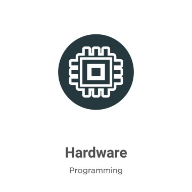 Hardware vector icon on white background. Flat vector hardware icon symbol sign from modern programming collection for mobile concept and web apps design.