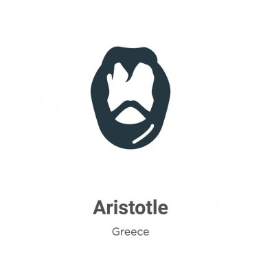 Aristotle glyph icon vector on white background. Flat vector aristotle icon symbol sign from modern greece collection for mobile concept and web apps design.