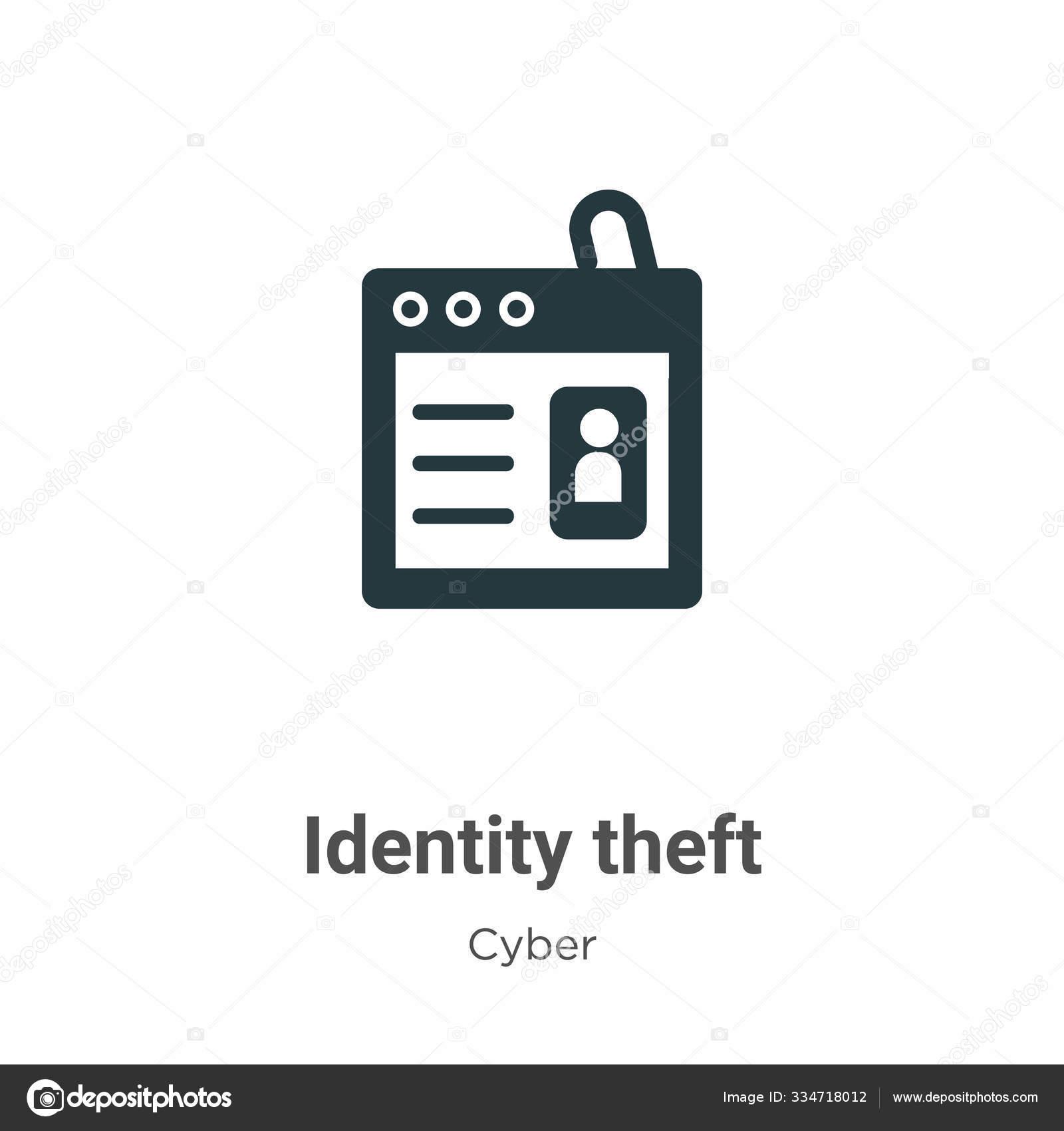 identity theft vector icon white background flat vector identity theft stock vector c digital bazaar 334718012 depositphotos