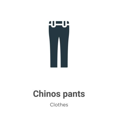 Chinos pants vector icon on white background. Flat vector chinos pants icon symbol sign from modern clothes collection for mobile concept and web apps design.