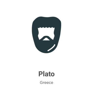Plato glyph icon vector on white background. Flat vector plato icon symbol sign from modern greece collection for mobile concept and web apps design.