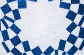 Tokio, Japonsko, leden. 20. 2020: čtvercový abstraktní geometrický koncept Japonsko Tokio olympijské hry 2020 pozadí s bílou editační prostor