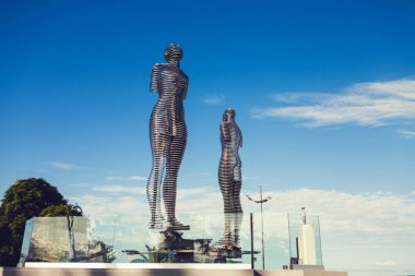 BATUMI, GEORGIA.  Moving sculpture