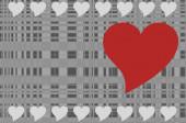heart shape background. vector illustration