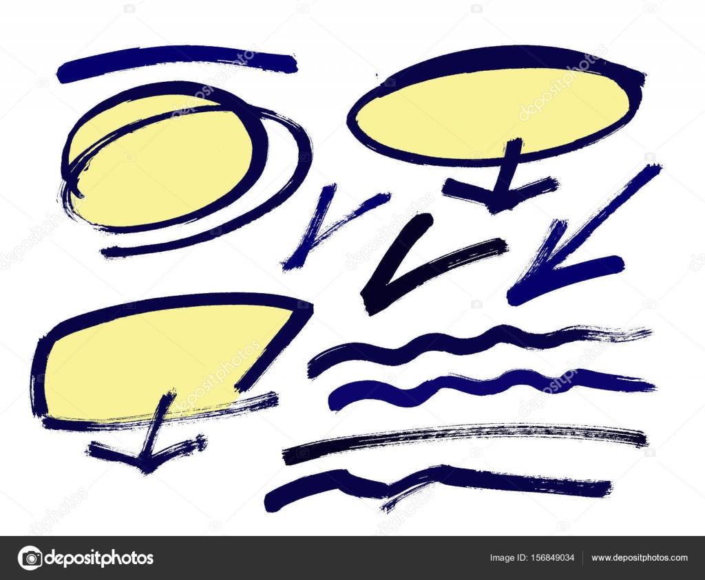 Satz von handgezeichneten Grunge-Design-Elemente, Rahmen ...