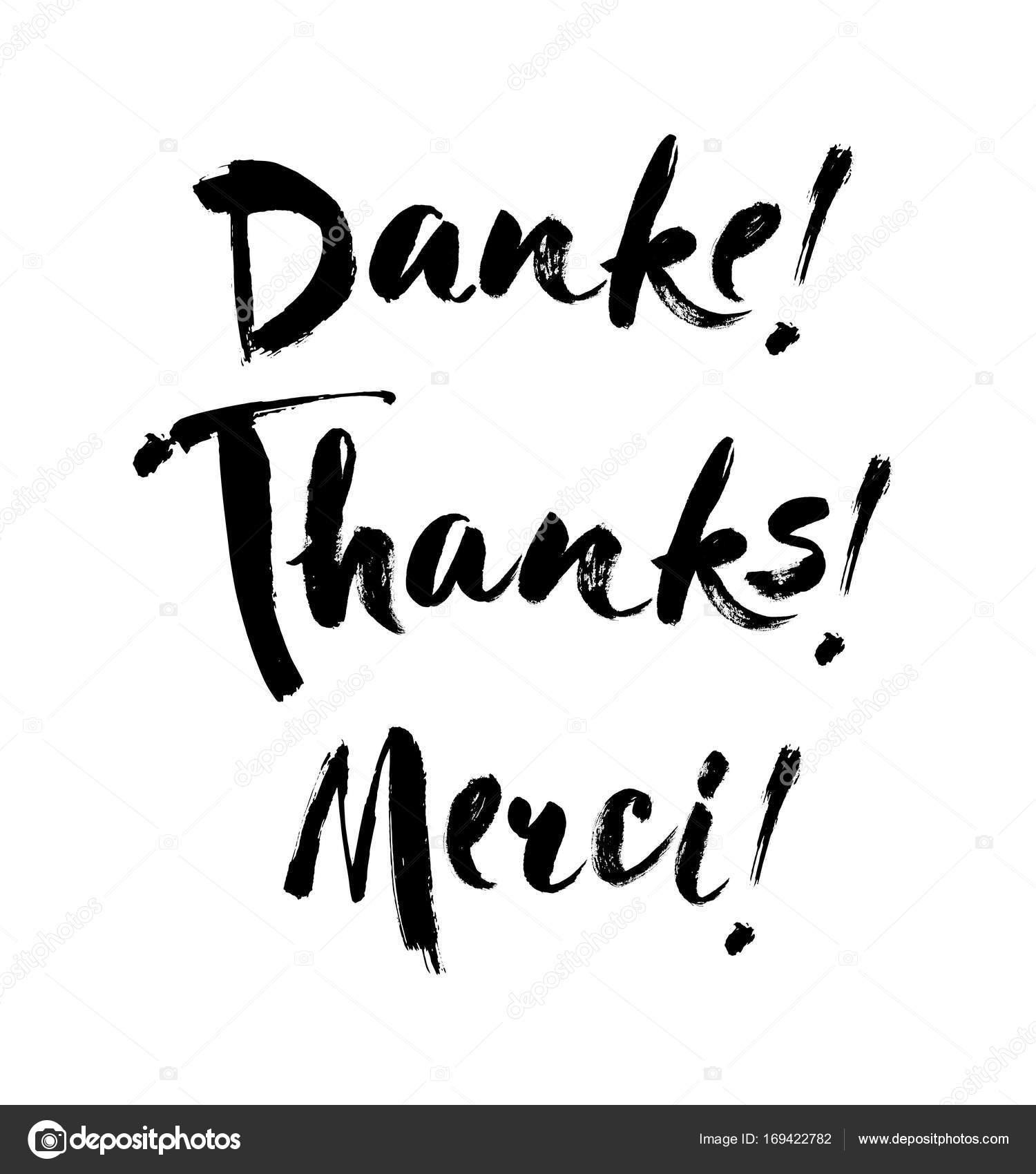 Gracias Letras En Inglés Francés Alemán Gracias Merci