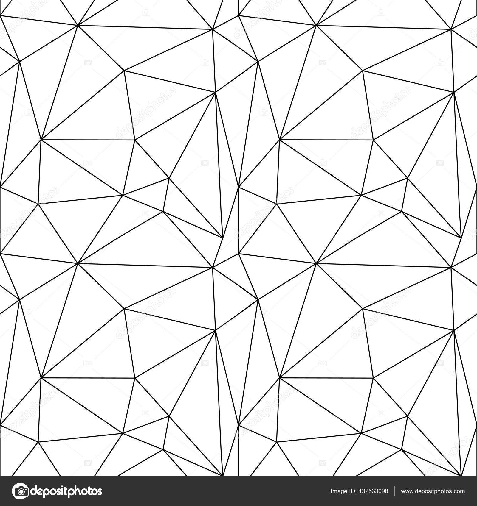 abstract geometric black and white seamless pattern of