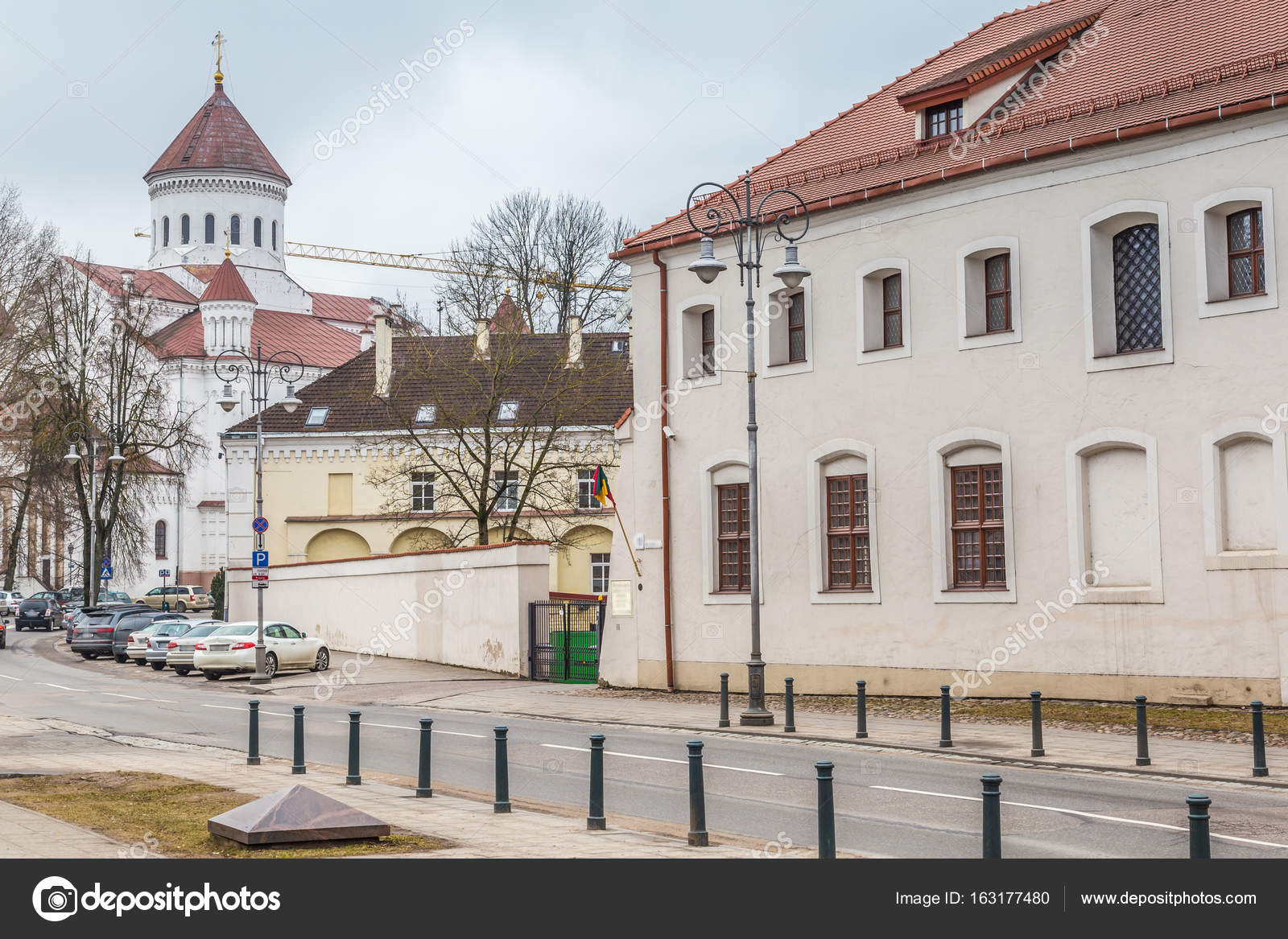 3f8cac10f4 Old town Vilnius Lithuania — Stock Photo © photoweges #163177480