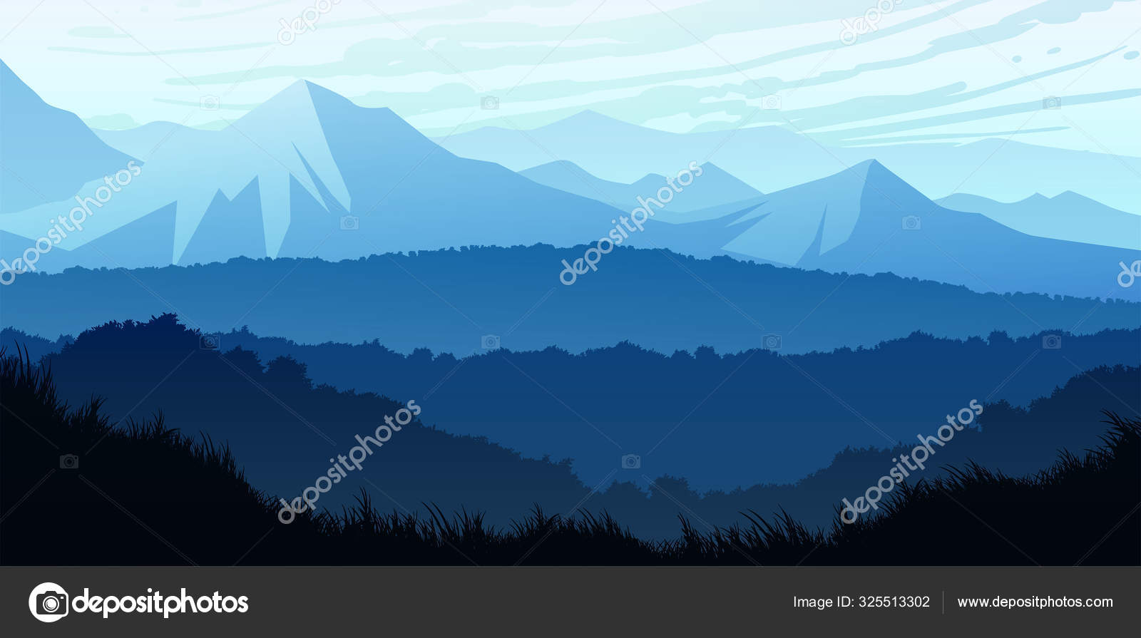 Natural Forest Trees Mountains Horizon Hills Sunrise And Sunset