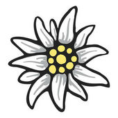edelweiss flower symbol alpinism alps germany logo