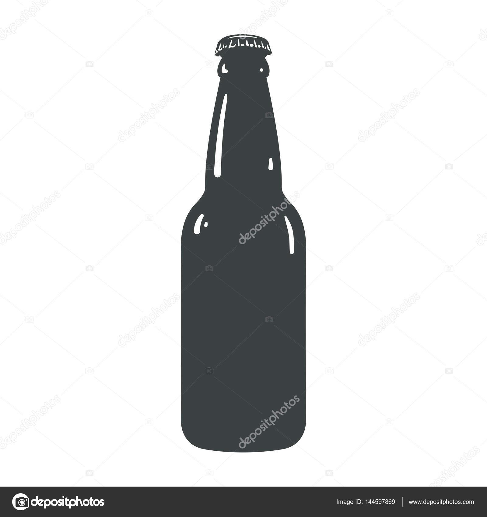 Craft Bier Flasche Vorlage Vintage Brauerei Flaschen Zeichen symbol ...