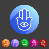 Photo Hamsa hamesh icon flat web sign symbol logo label