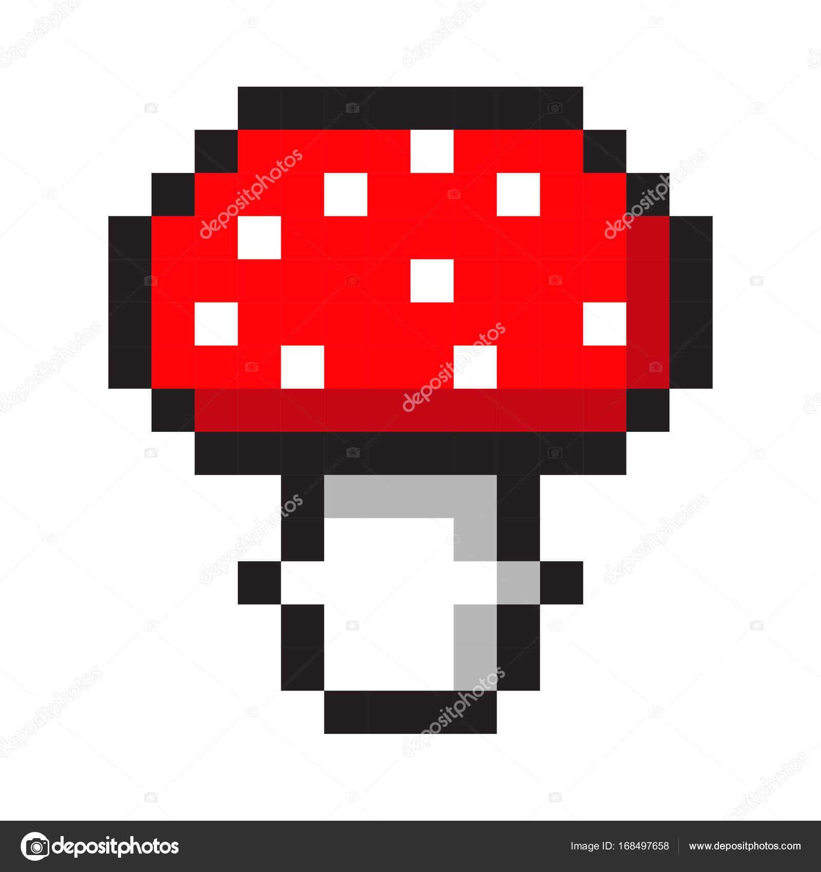Mushroom Cartoon Art Pixel Art Amanita Mushroom Cartoon