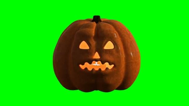 A talking Jack-o-lantern (a talking pumpkin). Isolated. 3D-Rendering. Full HD.